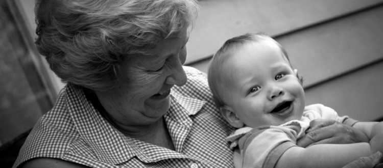 cute baby boy with his granny